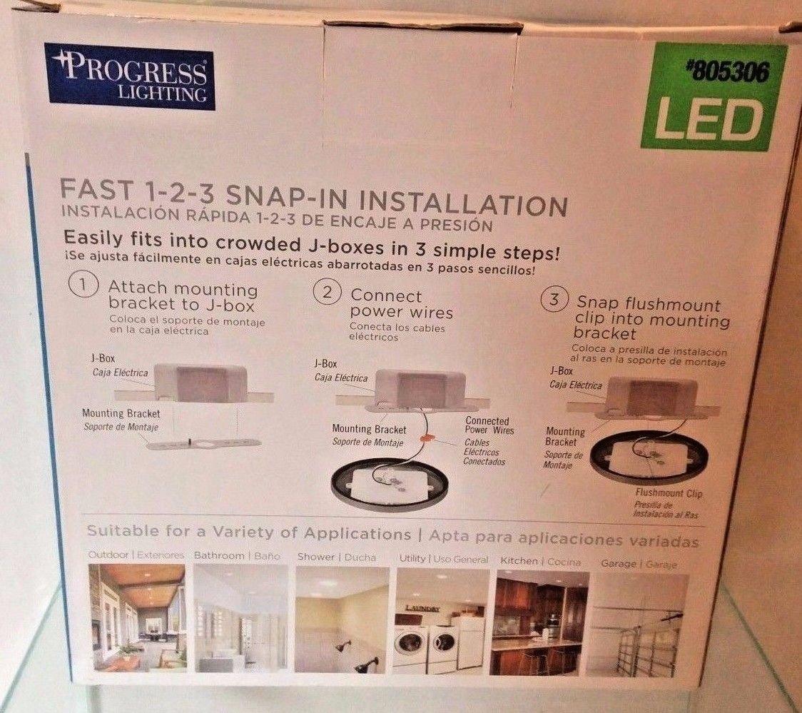 Progress Lighting 7.5-in W Brushed Nickel LED Flush Mount Light-# P810000-009-30 - - Amazon.com