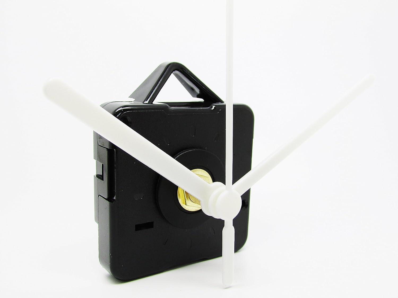 Meccanismo per orologio al quarzo, senza ticchettio, movimento a motore, con lancette in plastica, fuso lungo, e accessori per il montaggio, plastica, Multi, 39mm Black Dans Clock Shop