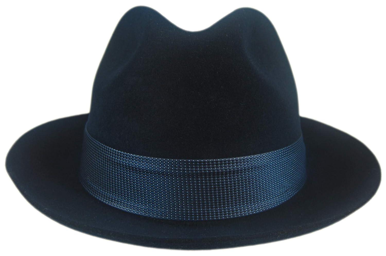 Stetson Navy Hoover Fur Felt Fedora Size 7 1//4 R Oval 2 Brim
