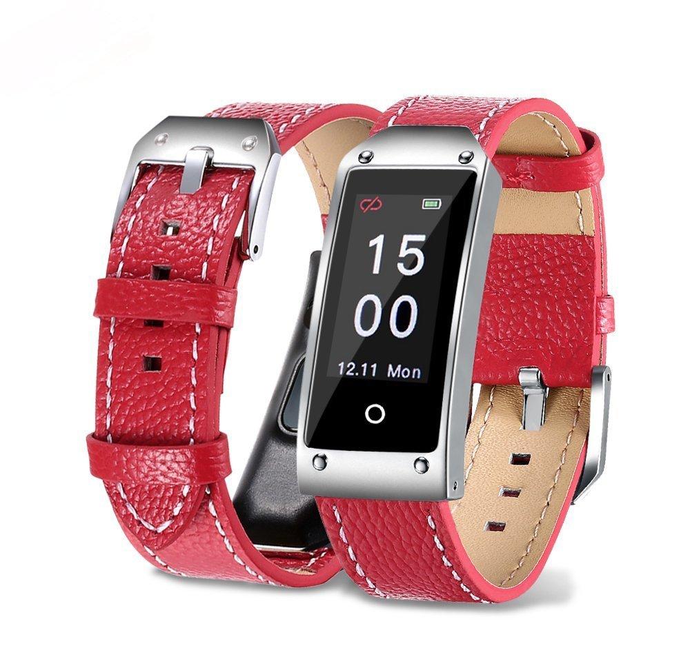 Hulorry Wireless Smart Wristband Pedometer, Sport Smart Bluetooth Watch Band,Adjustable Fitness Bracelet,Sports PU Leather Wristband,Bluetooth Smart Wristband,Sport Bracelet,for Android & IOS