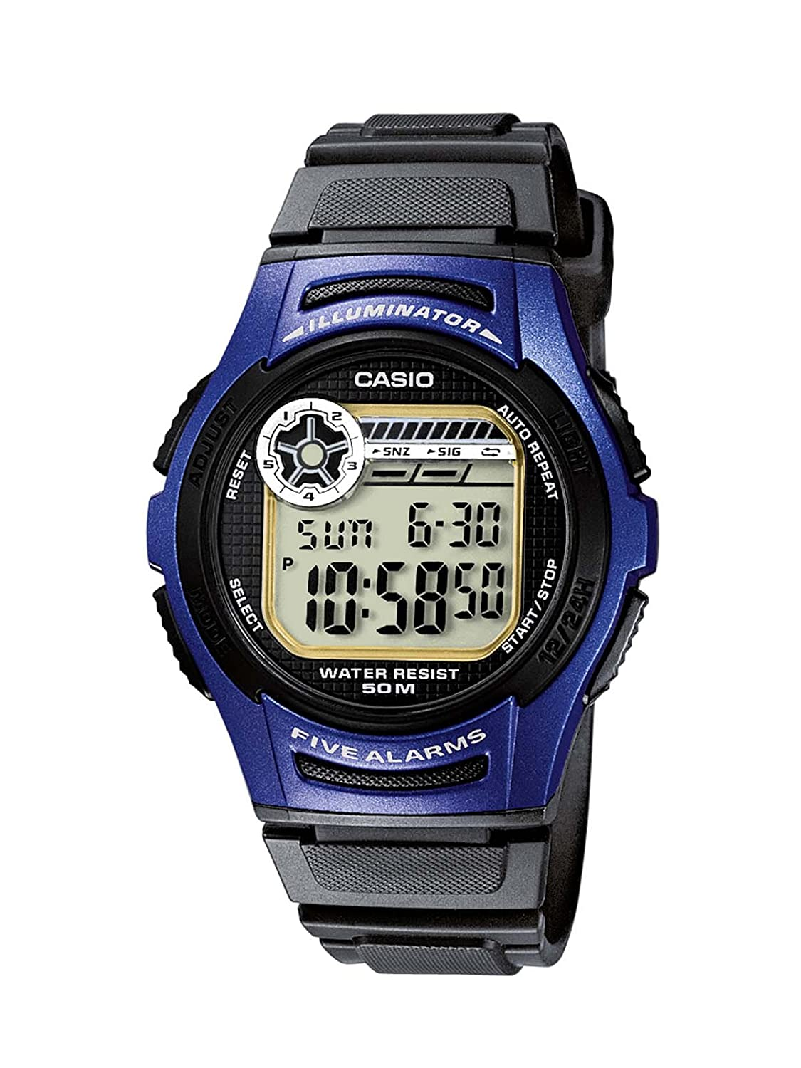 Casio Collection Reloj Digital para Hombre con Correa de Resina – W