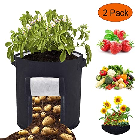 Steellwingsf - 2 Bolsas de Cultivo para Tomates y Patatas ...
