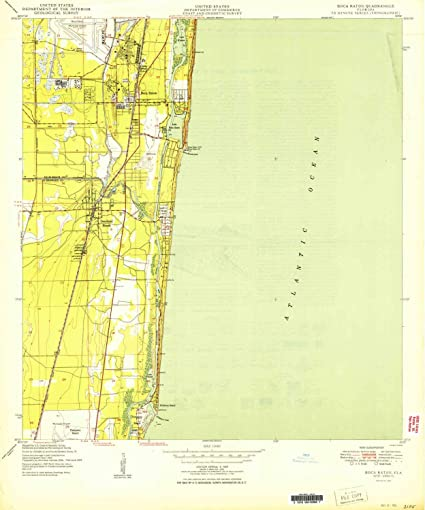 Map Of Florida Showing Boca Raton.Amazon Com Yellowmaps Boca Raton Fl Topo Map 1 24000 Scale 7 5 X