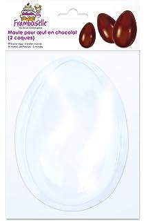 Framboiselle fra8980 - Molde de Huevo de Chocolate plástico Transparente 13 x 8.5 cm