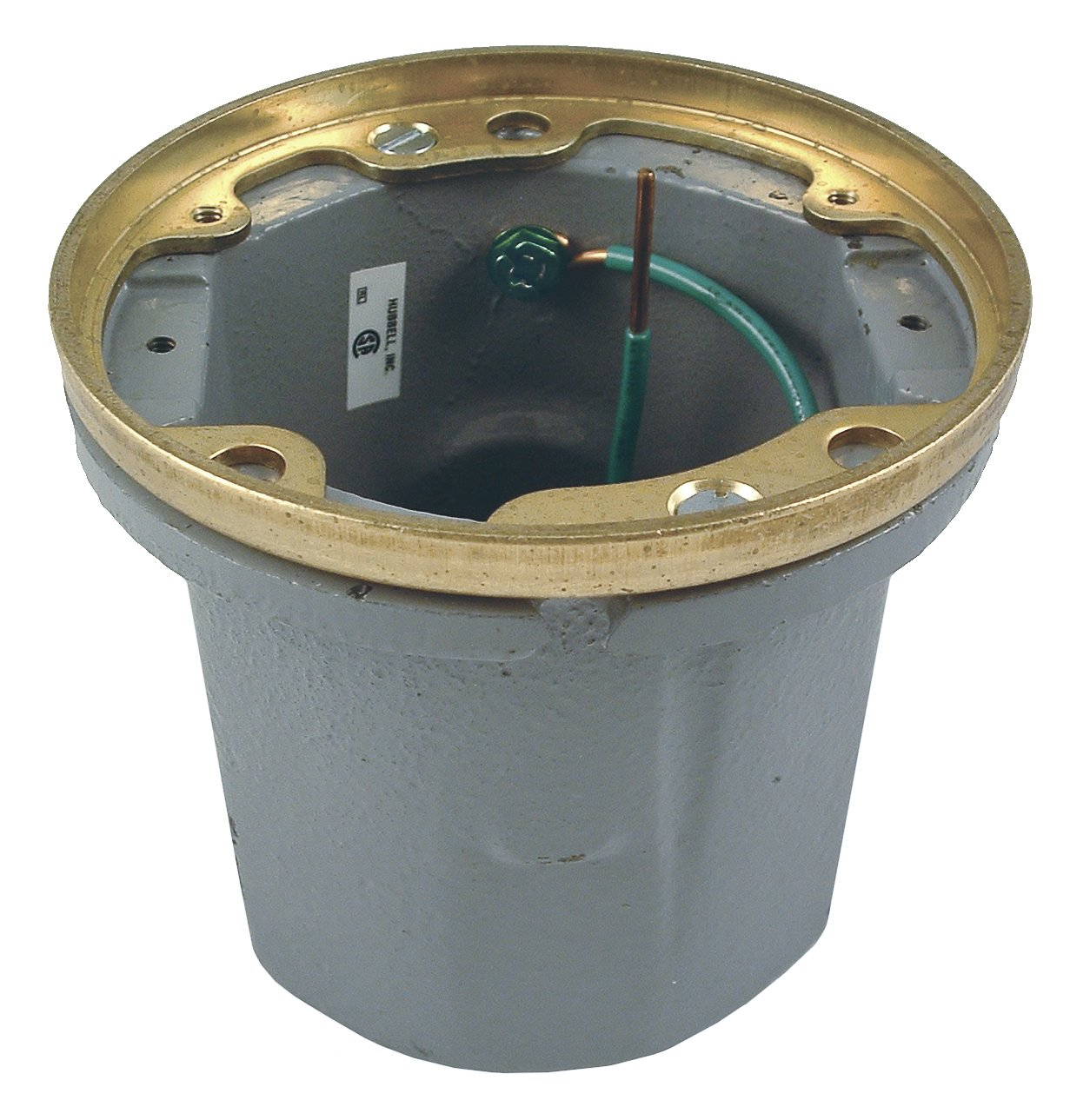 Hubbell-Raco 6223 18.5 Cubic Inch Round Non-Adjustable Wood Floor Box