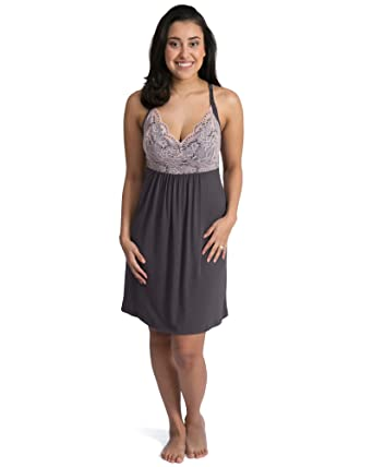 91483cbc59c Kindred Bravely Lucille Nursing Nightgown   Maternity Gown at Amazon ...