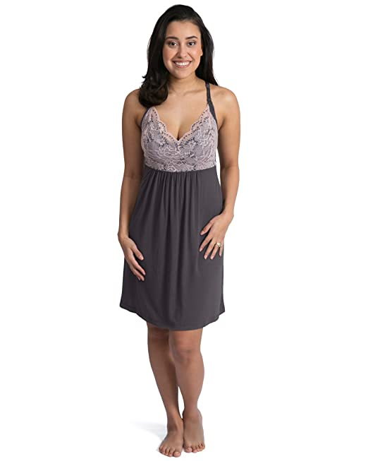 0db6879640a00 Kindred Bravely Lucille Nursing Nightgown & Maternity Gown (Summer Bliss,  X-Small)