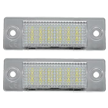 REFURBISHHOUSE LED lampara de luz de Numero de Placa para VW Transporter T5 Caddy TOURAN Golf Passat: Amazon.es: Coche y moto