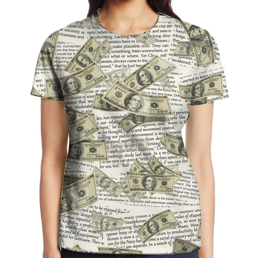 XIA WUEY US Dollors Women's Novelty Graphic Tee Compression Tees