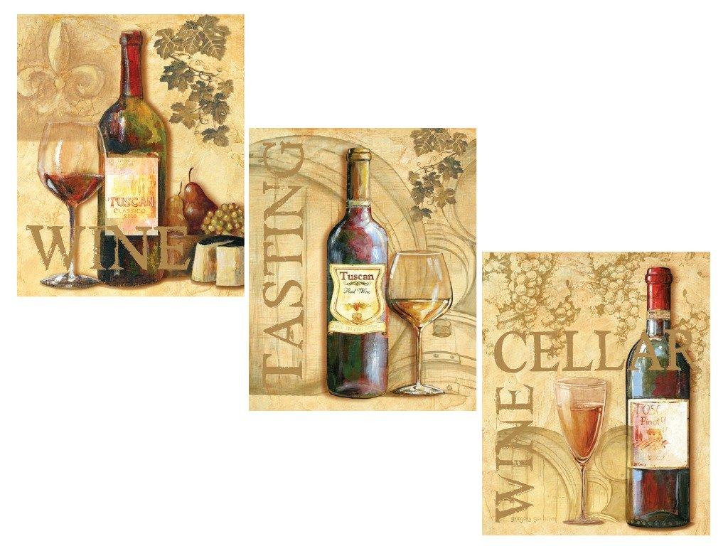 Amazon.com: 3 Wine Grape Art Prints Tuscany Posters Kitchen Decor ...