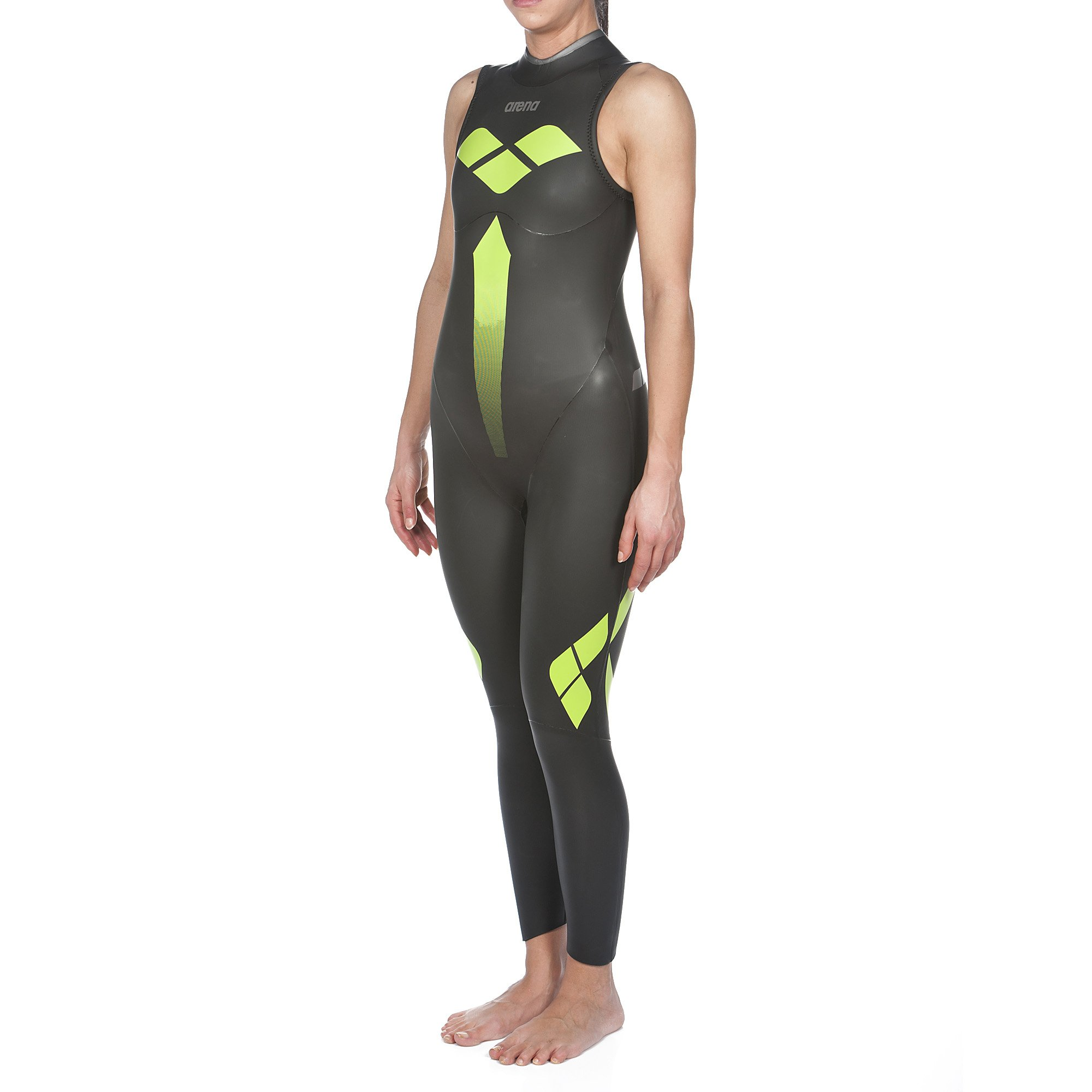 Arena Triwetsuit Sleeveless Wetsuit, Black, Medium by Arena