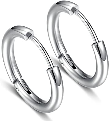 KnSam Earring Jewelry Earring Unisex Fake Cartilage Clip On Ear Cuff Wrap Earring White Zirconia