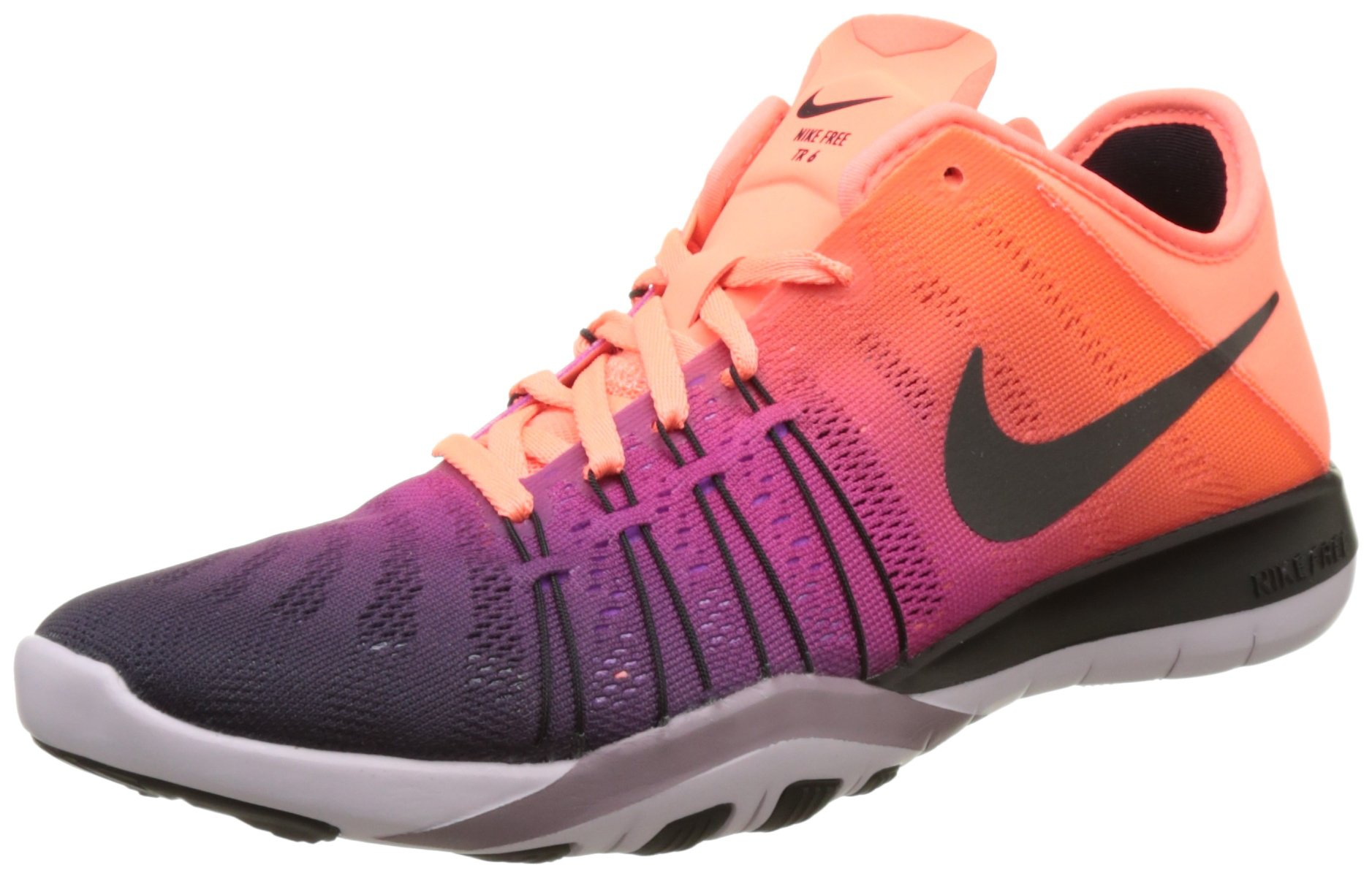 cf7431b657cc Galleon - Nike Women s Free TR 6 Spectrum Training Shoe Bright Mango Black Bleached  Lilac Size 7.5 M US