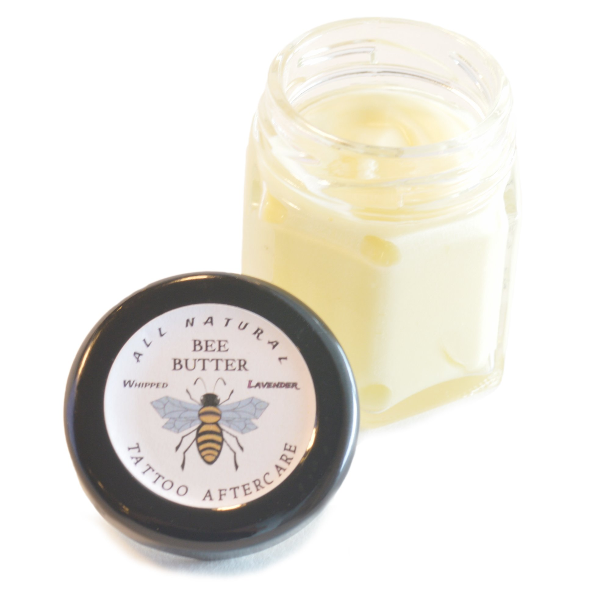 All Natural Bee Butter - 100% Natural Ingredients and it smells amazing!. Get Lavender, Vanilla-Pear, Lemon-Grass or Unscented. 1.5 oz. glass jar. (Vanilla Pear)