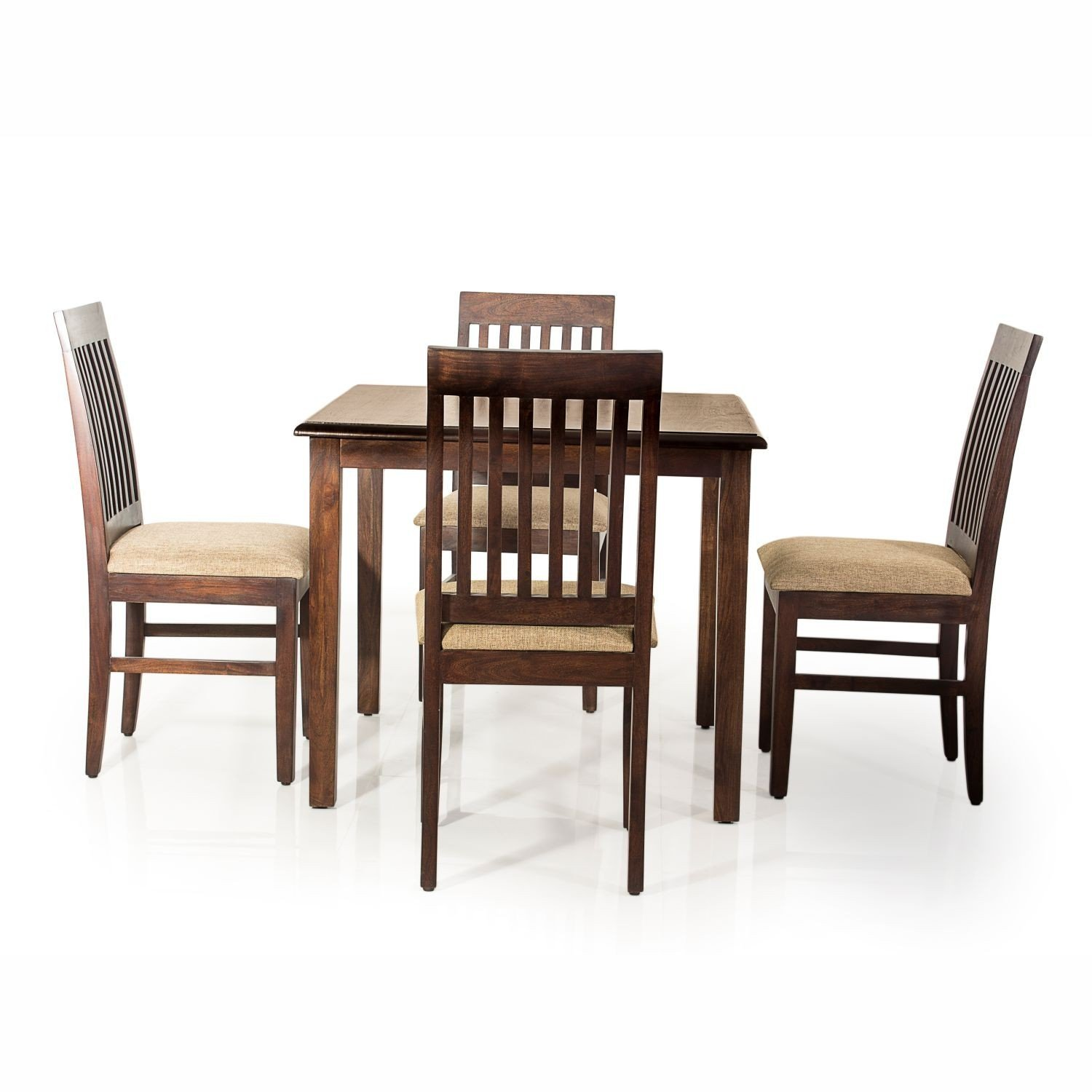 d0fefac1ee Evok Riva Solidwood Four Seater Dining Set: Amazon.in: Home & Kitchen