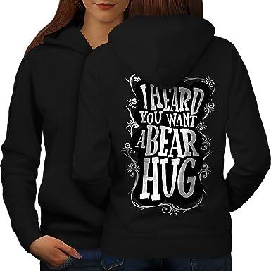 e6314f775a0 Amazon.com  wellcoda Heard You Bear Hug Funny Womens Hoodie