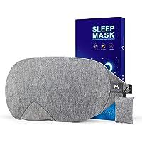 Mavogel - Antifaz para dormir de algodón con diseño actualizado que bloquea la luz, antifaz para dormir suave y cómodo…