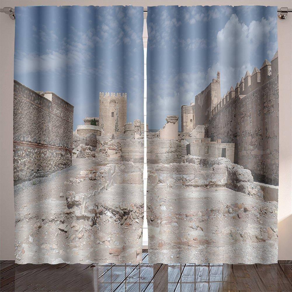 Amazon.com: SOCOMIMI Room Curtain alcazaba fortress in ...