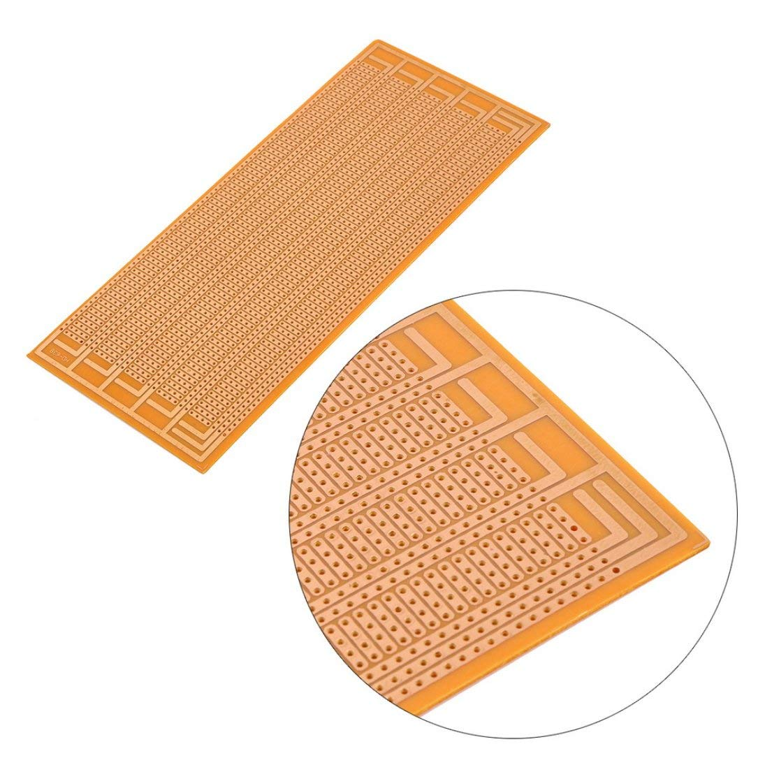 Planche /à pain universelle 8.5x20cm de carte m/ère universelle de circuit imprim/é de matrice de cuivre de c/ôt/é de prototype l/éger durable de DIY ToGames-FR