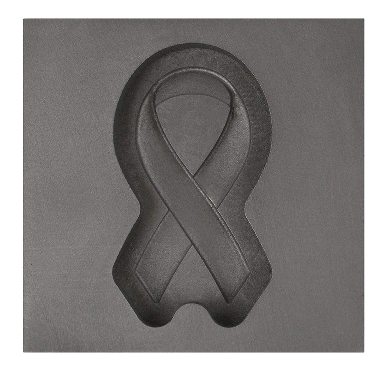 Small - Memorial Ribbon 3D Graphite Ingot Mold for Precious Metal Casting Gold Silver Melting by PMC Supplies LLC