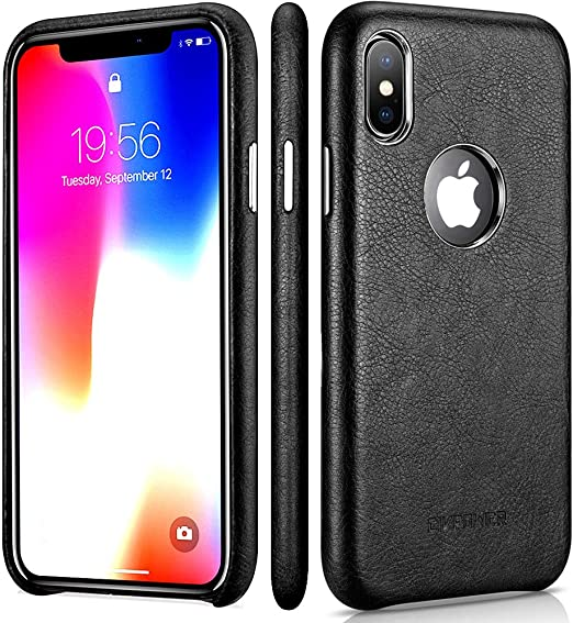 first rate 28fcf 96bf2 iPhone X Leather Case – Premium Leather iPhone X Case – Best Mobile Cell  Phone Cases Protective Back Cover - Slim Fit PU Leather Case for Apple ...