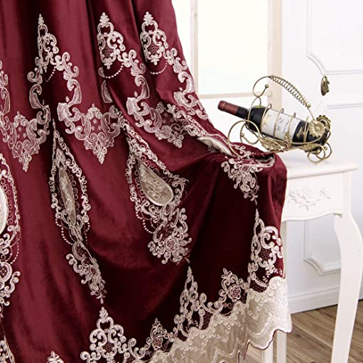 1 Panel European Luxury Embroidered Curtain