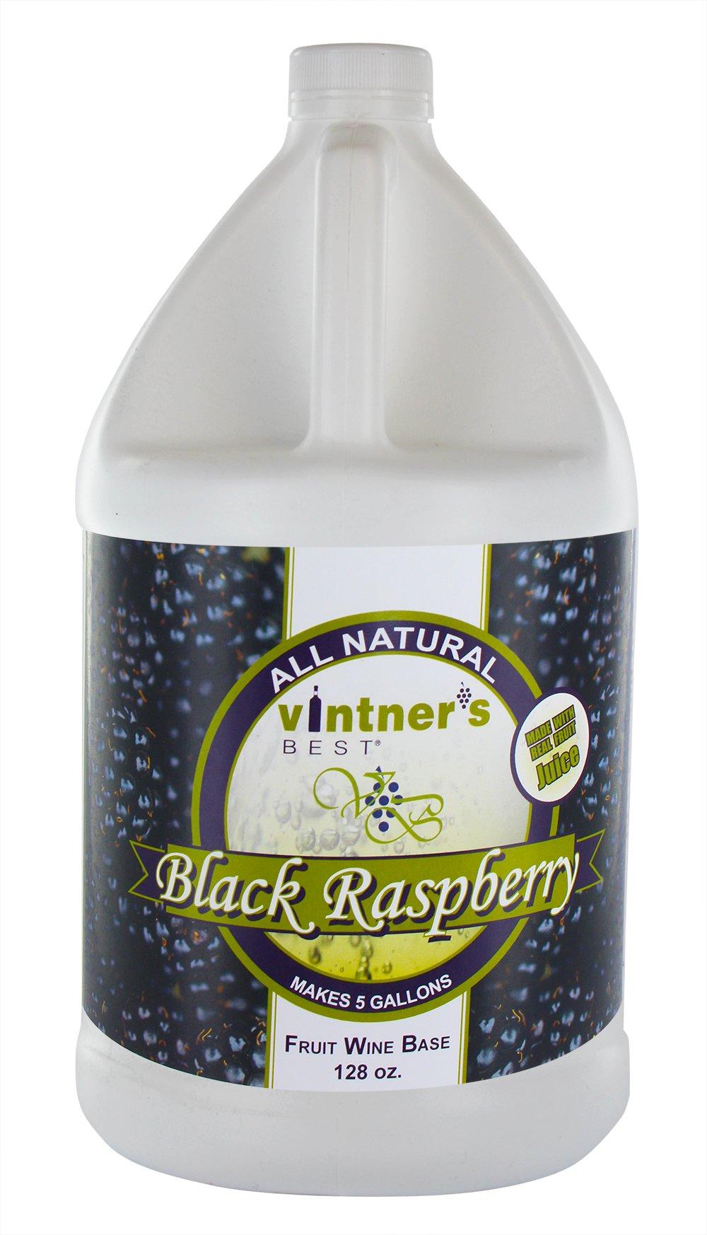Vintner's Best Black Raspberry Fruit Wine Base - 128 oz (1 gallon)