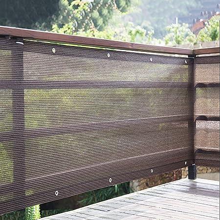LiQi Malla sombreadora Sun Net Valla de Malla de Pantalla de privacidad al Aire Libre, Tela de Sombra marrón con arandela, toldo de pérgola de Patio de jardín 90% -95% Protector Solar: