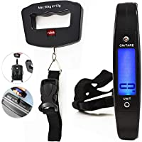 Rubik Digital Luggage Scale, 50kg /110lb Max Hanging Baggage Scale with Backlit LCD Display, Portable Suitcase Bag Weighing Scale, Travel Luggage Weight Scale with Hook Strong Strap
