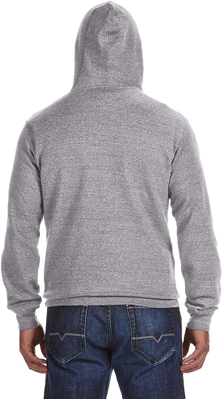 J 8620 America Mens Cloud Fleece Hooded Pullover Sweatshirt -RED -2XL