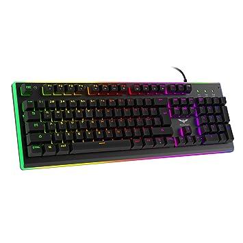 HAVIT RGB Backlit Wired Gaming Teclado de membrana, mechanical-similar escritura/experiencia de juego: Amazon.es: Informática