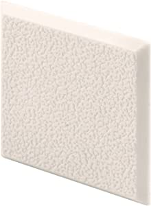 Prime-Line Products MP10867 Wall Protector, 2 in. x 2 in. Squares, Rigid Vinyl, Ivory, Textured, Adhesive-Backed, Paintable, Pack of 5