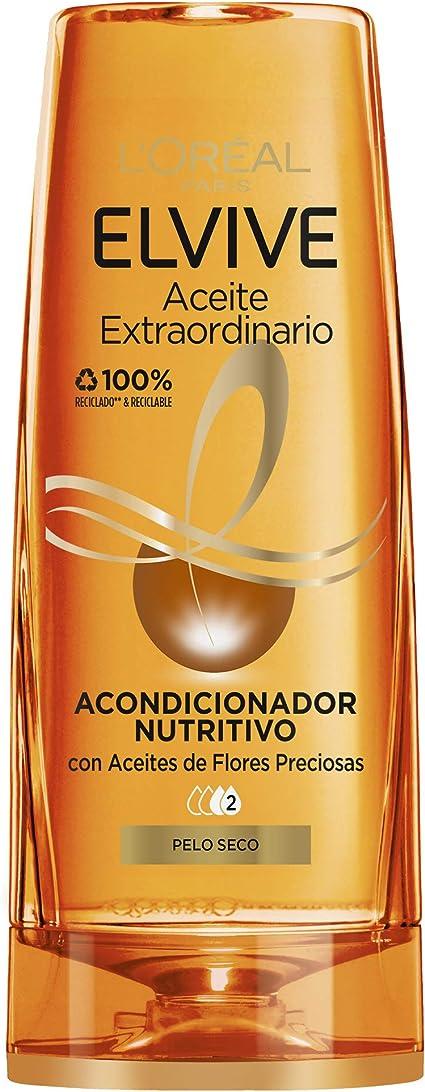 Oferta amazon: L'Oréal Paris - Elvive Acondicionador Nutritivo Aceite Extraordinario para Pelo Seco, 300 ml