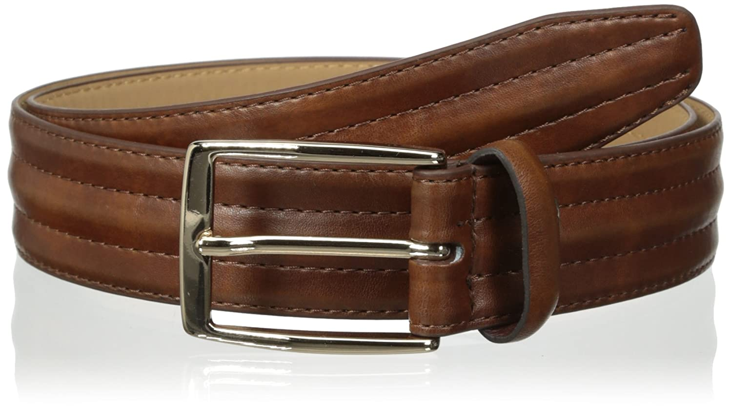 Dockers Mens Feather-Edge Belt with Center Padding
