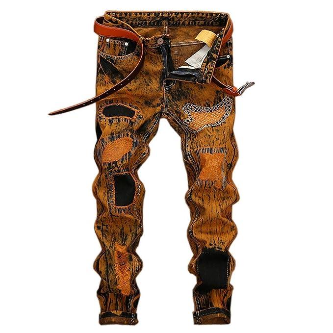 Huixin Jeans Cintura De Los Hombres De Mediana Recto Moda ...
