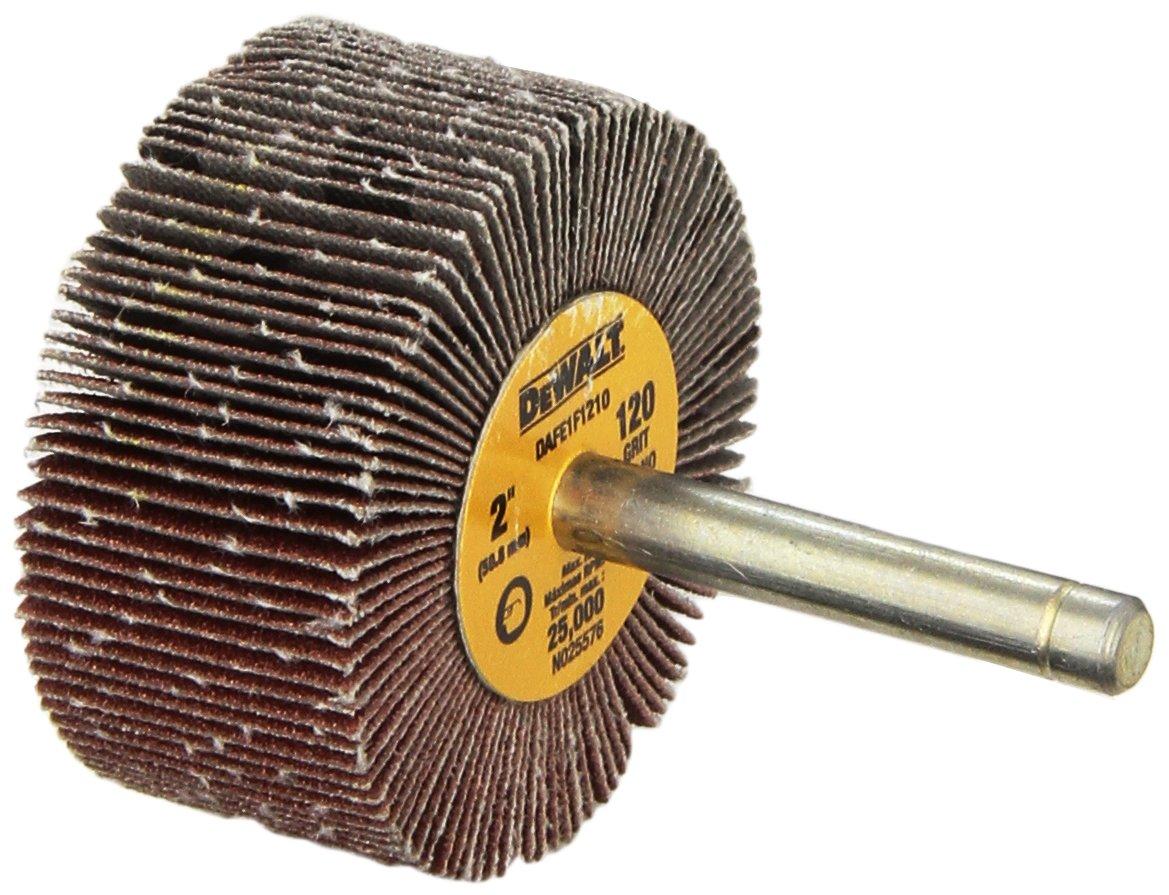 DEWALT DAFE1F1210 2-Inch by 1-Inch by 1/4-Inch HP 120g Flap Wheel