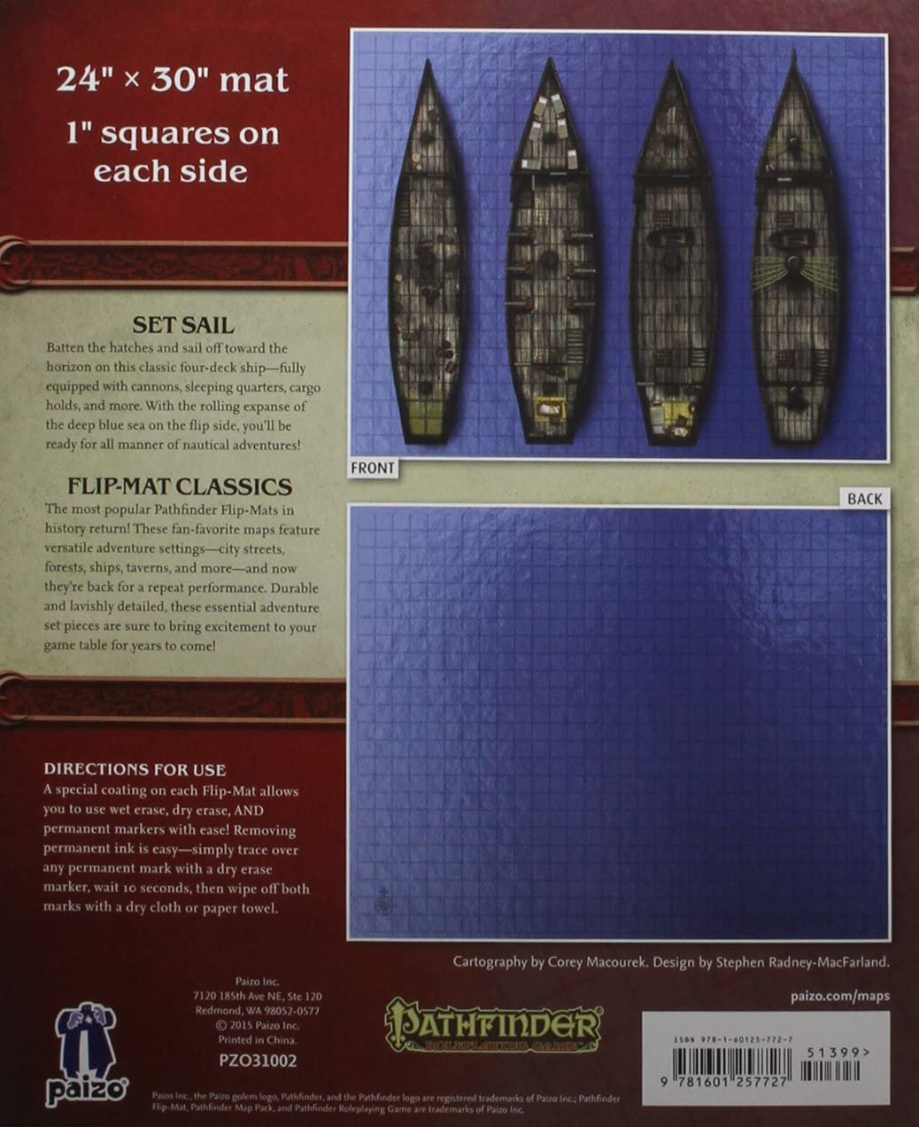 Pathfinder Flip-Mat Classics: Ship: Macourek, Corey, Radney-MacFarland, Stephen: Amazon.es: Juguetes y juegos