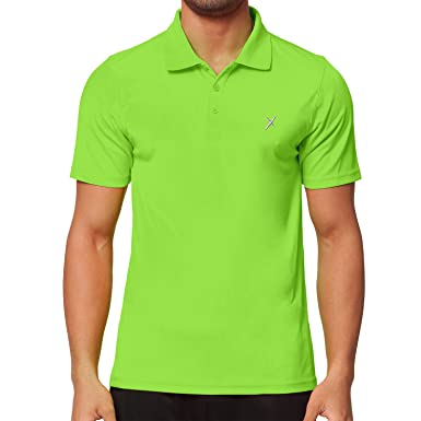 c2540379e5d421 CFLEX Men Sportswear Collection - Herren Polo Shirt - Electric Green S