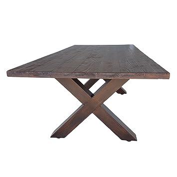 Gartentisch alu 200  Amazon.de: Gartentisch aus Metall 200x100 cm Holz Optik - Tisch 104 ...