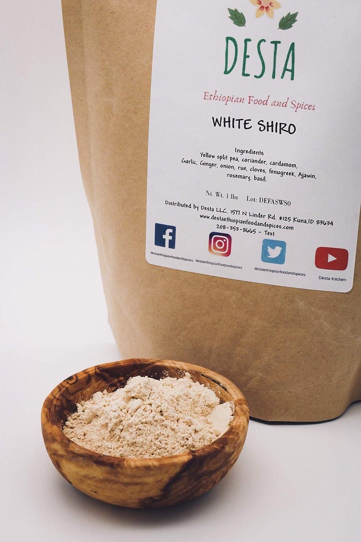 Shiro Ethiopian Yellow spilt pea powder, White/nechi Authentic 1LB