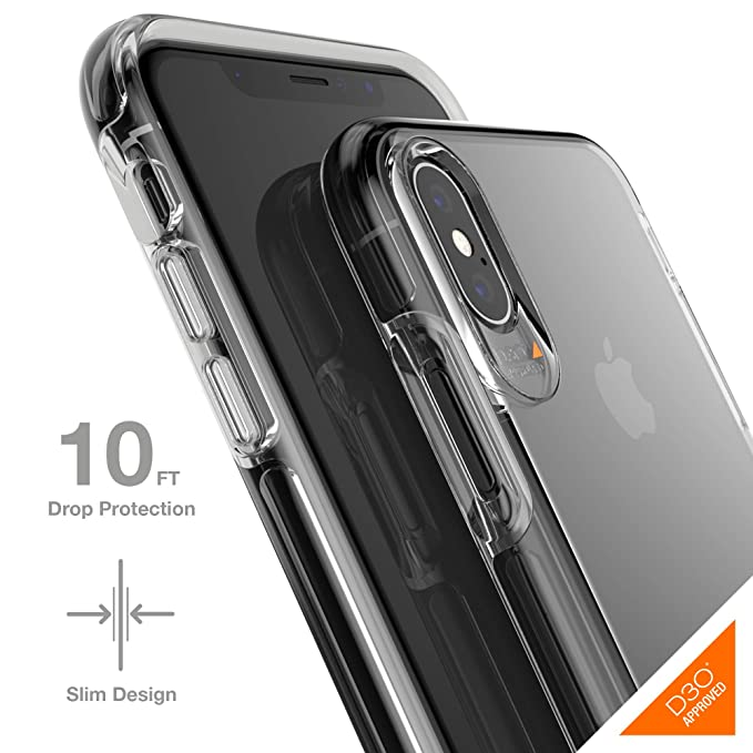 release date: dda1a 63835 Gear4 Crystal Palace Clear Case with Advanced Impact Protection [ Approved  by D3O ], Slim, Tough Design for iPhone X/XS – Clear