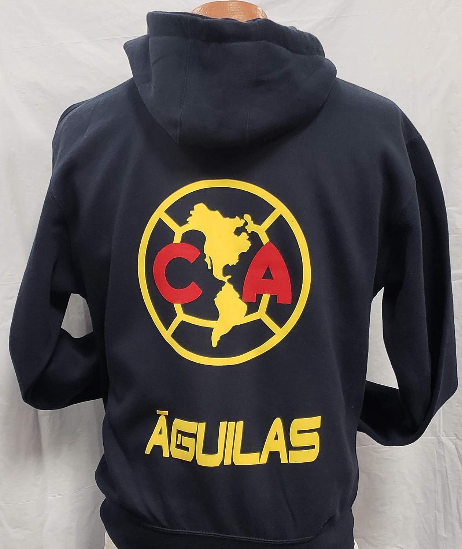 Amazon.com : New! Club Deportivo America Zip Up Hoodie Sudadera con Gorro Liga MX Size 2XL : Sports & Outdoors