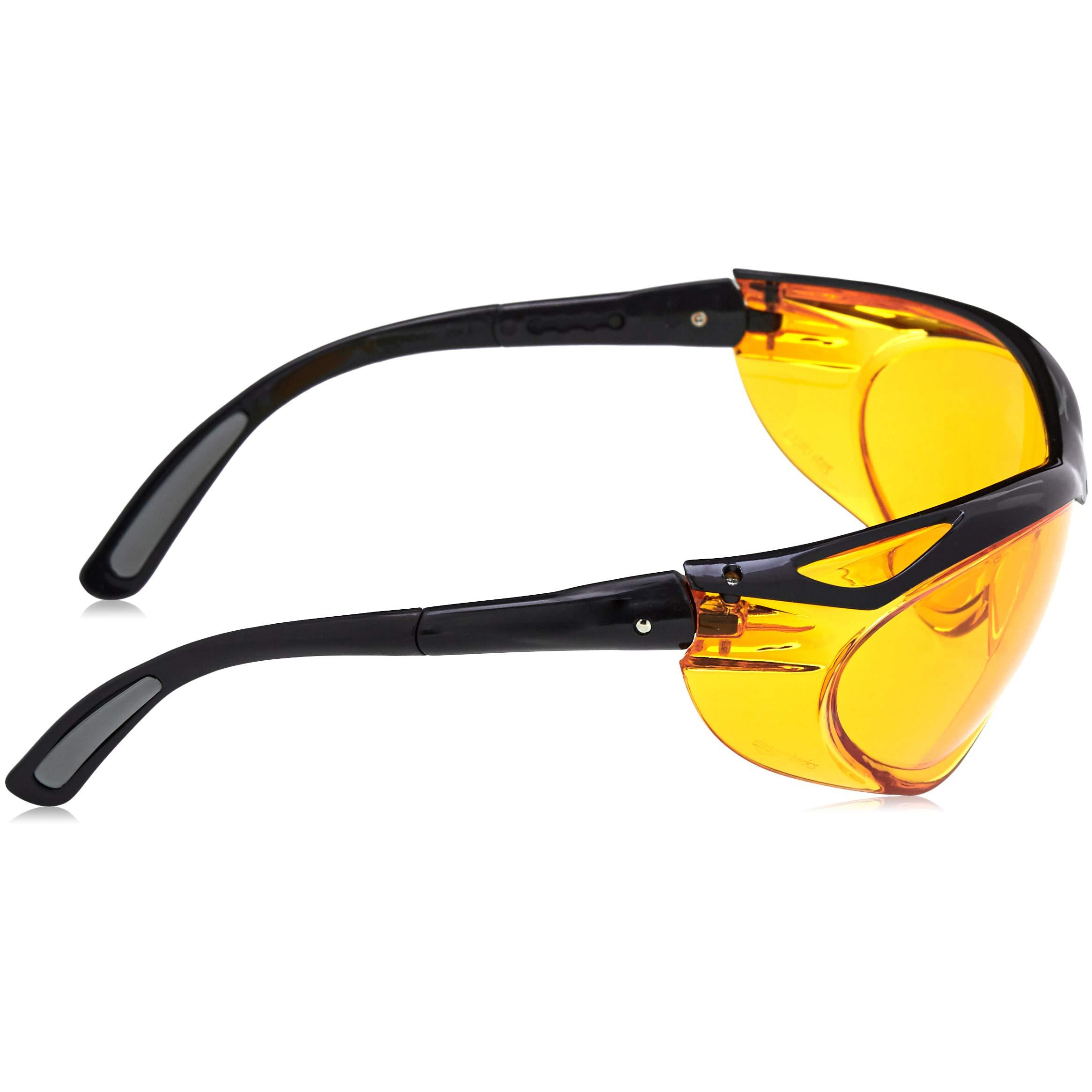 AmazonBasics Blue Light Blocking Safety Glasses, Anti-Fog, Orange Lens, 6-Count by AmazonBasics (Image #5)