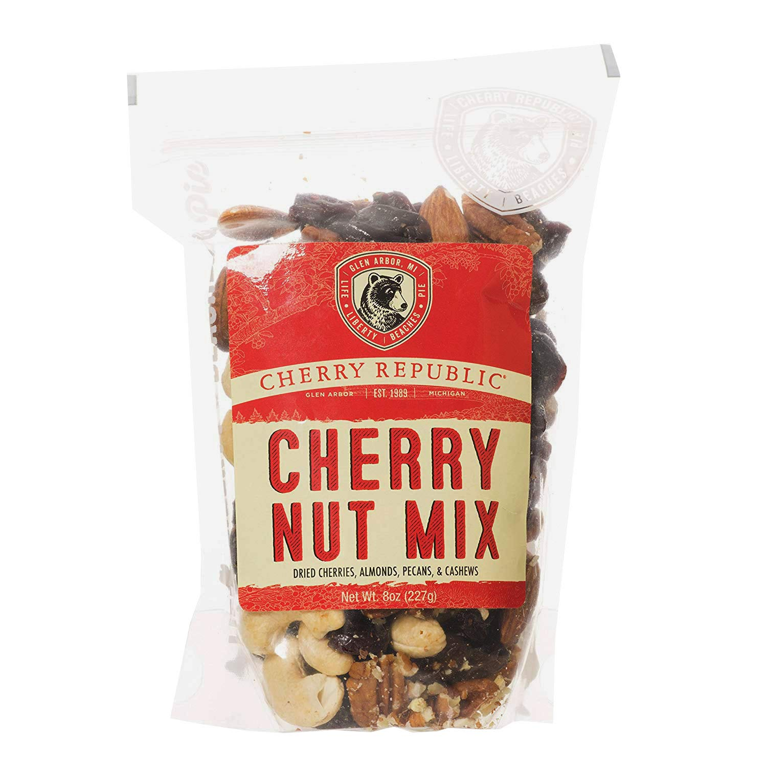 Cherry Republic Cherry Nut Mix - Nutrition-rich Trail Mix Featuring Montmorency Tart Dried Cherries, Almonds, Cashews & Pecans - Assorted Nut Mix - All-purpose, Healthy Snack Mix - 8 Ounces