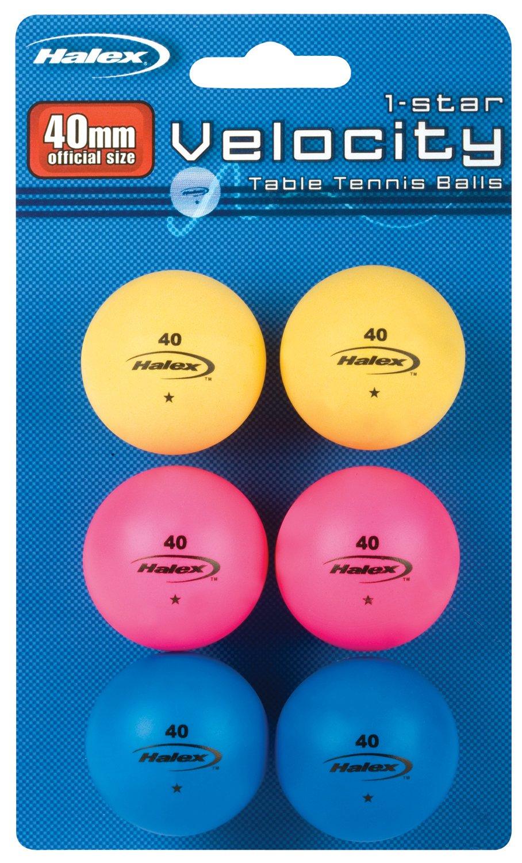 6 Pelotas de Ping Pong 1 Estrella HALEX