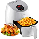 Aigerek Air Fryer-Easy-to-clean-Dishwasher Safe-Auto Shut off &Timer-Touch Screen Control-3.2L,1350W