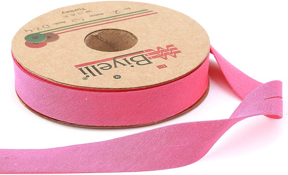 10meters-10.93yds 20mm-13//16inch White Various Colors Single Fold DIY Garment Accessories Cotton Bias Binding Tape