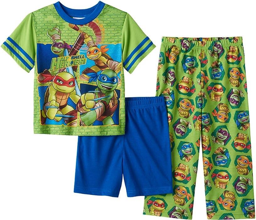 d6d43cfce8 Nickelodeon Teenage Mutant Ninja Turtles Toddler Boys 3 Piece Pajama Set  (2T)