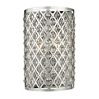 Modern crystal wall sconce with two lights amazon aloadofball Gallery