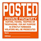 SMARSTICKER Posted Private Property Signs - No